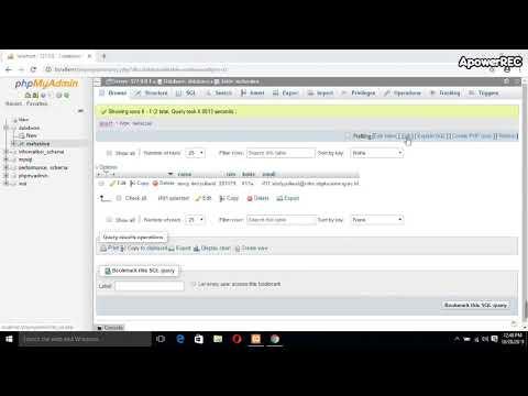 Tutorial Menampilkan SELECT CONCAT() SQL PhpMyAdmin