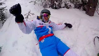 Snowboard CRASH In The Trees!