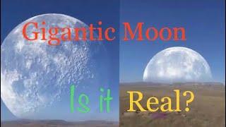 Gigantic Moon! At Arctic. Moon crossing Sun & Earth at North pole. Real or Fake?