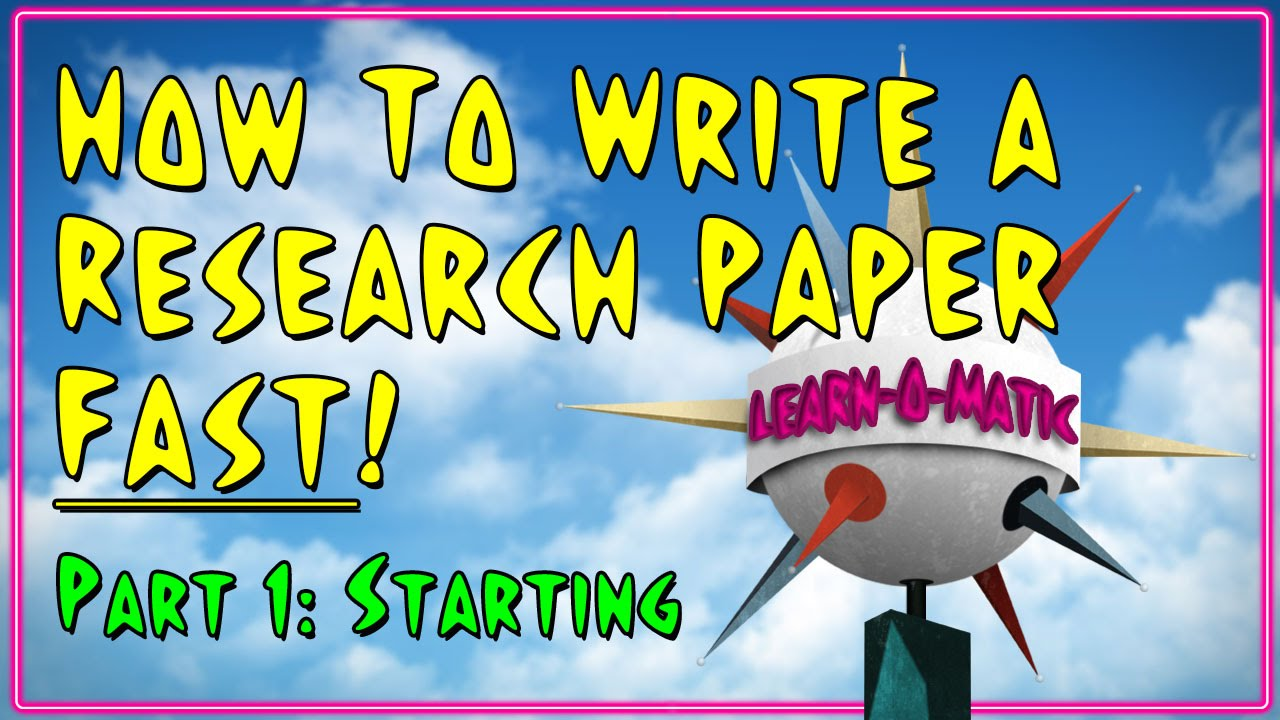 how to write a research paper fast pt starting