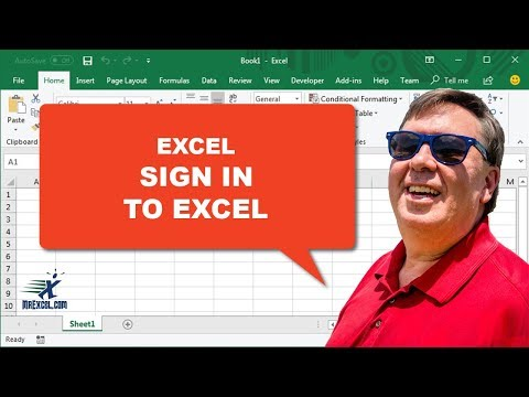 """Learn Excel 2013 - """"Sign In"""": Podcast #1588 Part I of V"""
