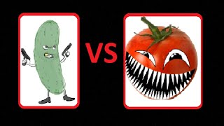 Овощи — Огурец  против помидора