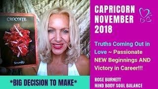 Capricorn November 2018 *Big Decision to Make*