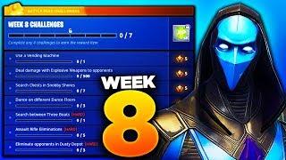 Fortnite Week 8 Challenges LEAKED! Fortnite Season 4 Battle Pass Week 8 ALL CHALLENGES!