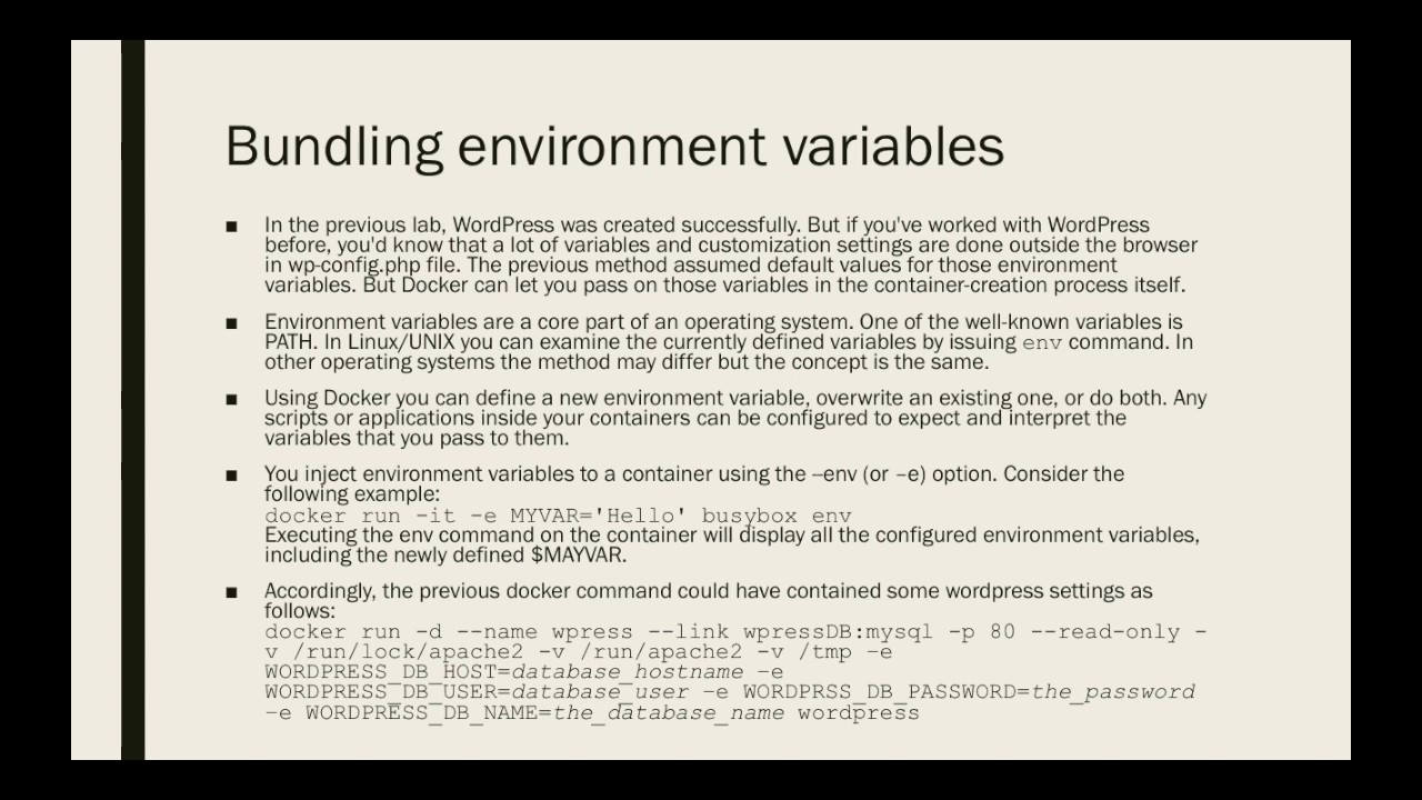 Docker for Beginners - Bundling Environment Variables
