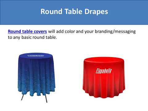 Table Drapes for Business Events and Exhibitions