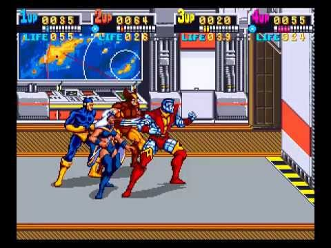 X-Men: The Arcade Game (Konami) (1992) Full Playthrough