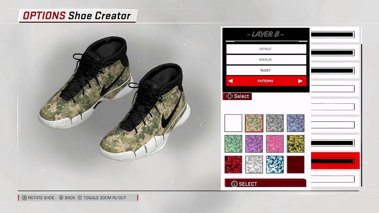 NBA 2K18 Shoe Creator - Nike Kobe 1 x Undefeated