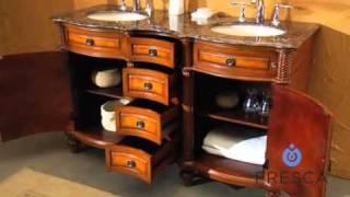 Fresca Constance Antique Double Sink Bathroom Vanity - FVN6391