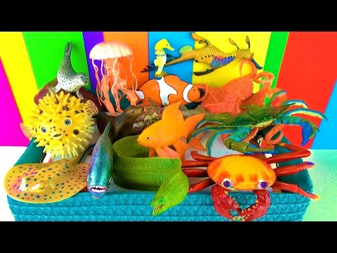 Sea Animals Toy Collection Kids Toys Fish Turtle Octopus Toys Pescado Peixe Funny Ending