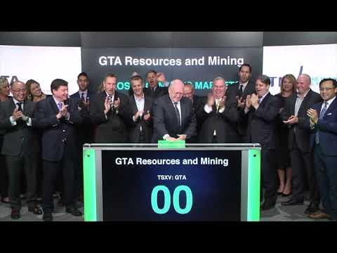 GTA Resources And Mining Inc. Closes Toronto Stock Exchange, November 20, 2017