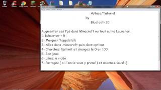 [Tuto] Augmenter ces FPS Minecraft [Bluetooth30]