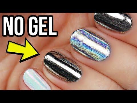 Apply Chrome & Unicorn Nail Powders Without Gel