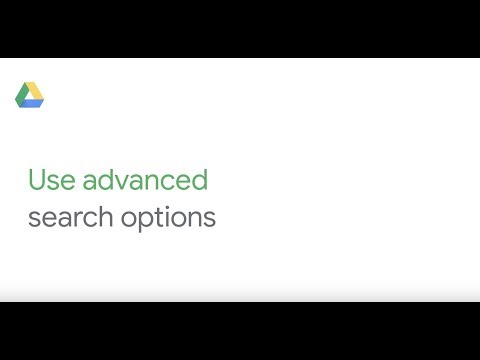 How To: Use advanced search in Google Drive