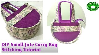 DIY Small Jute Carry Bag Makin…