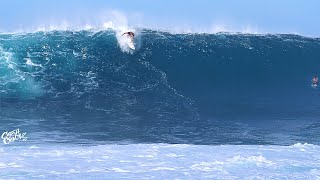 HEAVY Surf at PIPELINE (RAW FOOTAGE)