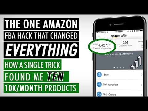 AMAZON FBA FOR BEGINNER | HOW A SINGLE TRICK FOUND ME TEN 10K/MONTH PRODUCTS, AMAZON FBA 2017 HACKS