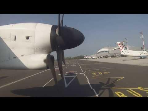 Croatia Airlines Q400 arrival into Zagreb