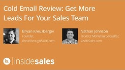 Cold Email Review: Get More Leads For Your Sales Team