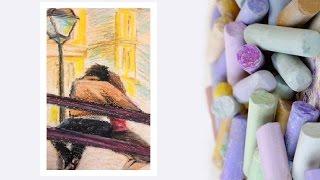 Видео урок Рисуем Масляной пастелью Картину Парочка #Dari Art(Масляная пастель отличается от сухой пастели в технике рисования. Ее нельзя растушевывать пальцем, тут..., 2015-03-24T12:01:13.000Z)
