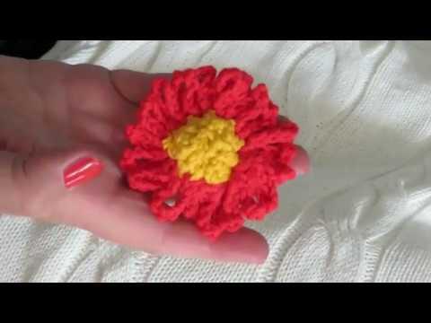 Blume Nr 1 Klematis Häkeln Für Blumenstrauß Youtube