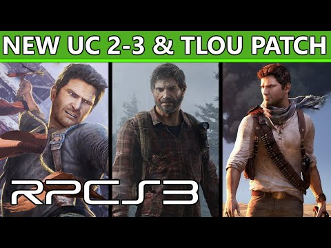 RPCS3 - TLoU & Uncharted 2-3 Major performance & graphical improvements with new patch!
