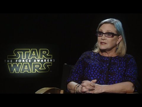 Carrie Fisher - Star Wars: The Force Awakens Interview (HD)