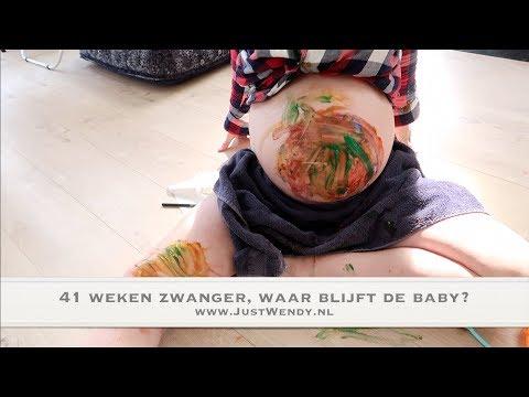 41 Weken Zwanger, Waar Blijft De Baby? Buik Verven En Bang Voor Onweer   Weekvlog #15 JustWendy.nl