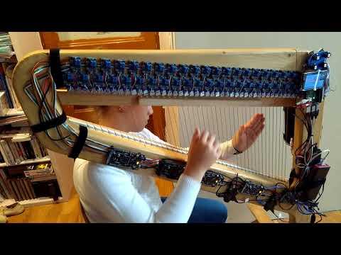 Eliette's Harp : midi harp using zynthian - Organ layer demo