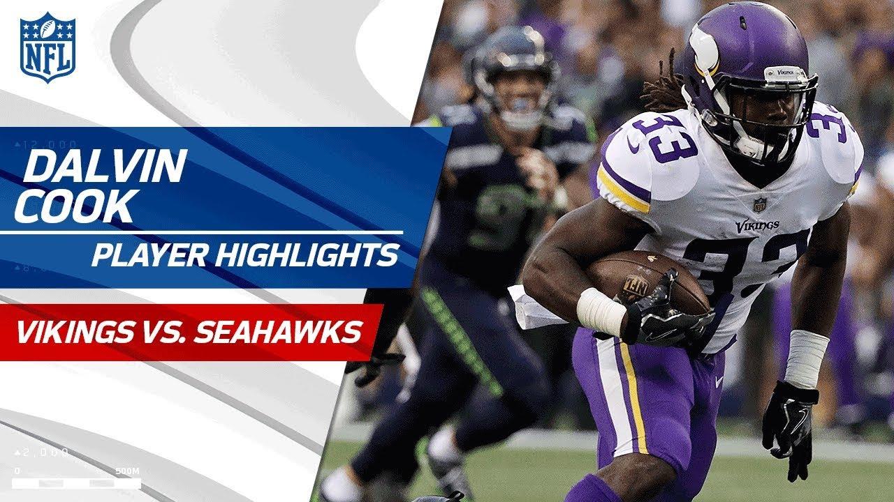 Every Dalvin Cook Play Against Seattle Vikings Vs Seahawks Preseason Wk 2 Player Highlights