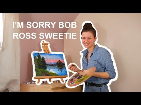 following a bob ross tutorial (original content)
