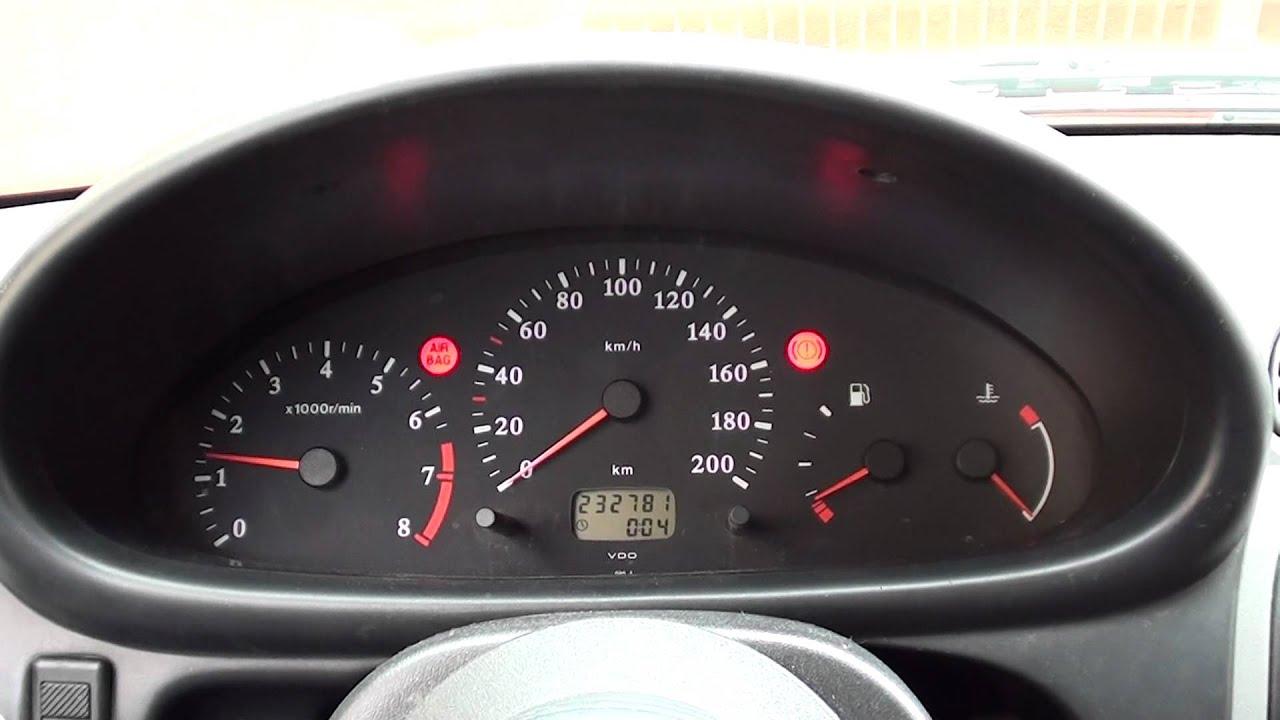 Nissan Micra K11 Restyle Quadro Strumenti Con Contagiri