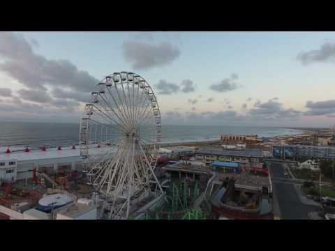 Ocean City NJ Boardwalk, Music Pier, Ocean - 2016 - Drone Footage