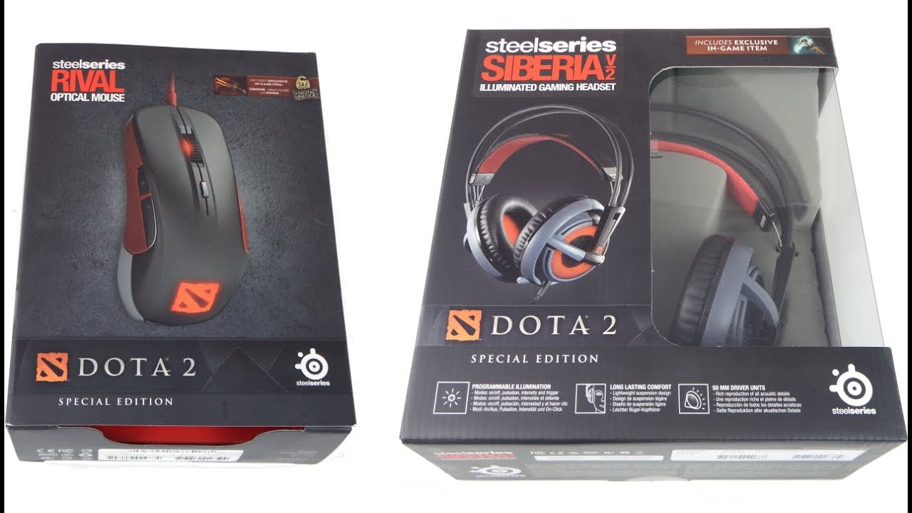 Steelseries Siberia V2 Rival Optical Mouse Dota 2 Editions Youtube