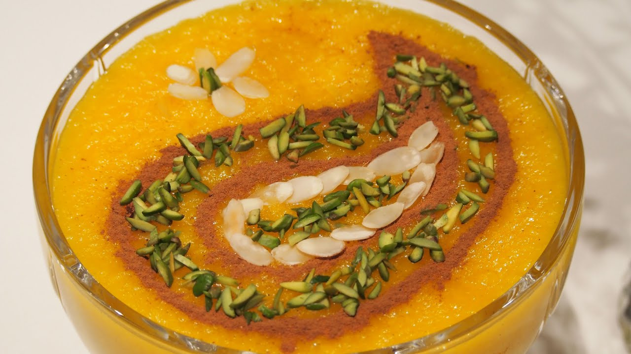 Persian saffron rice pudding sholeh zard youtube forumfinder Images