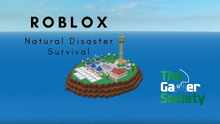 Roblox: Natural Disaster Survival - Party Palace - Tsunami - Didn't Die from Epic Tower Fall!