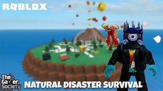 Roblox: Natural Disaster Survival - Party Palace - Tsunami - ¡No murió por la caída épica de la torre!