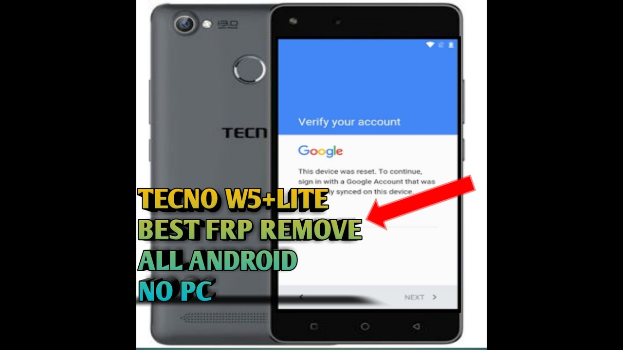 TECNO W5 LITE/W5 EASY METHOD TO REMOVE/BYPASS GOOGLE ACCOUNT FRP LOCK  WITHOUT PC OR OTG