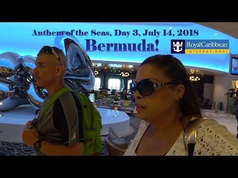 Anthem Of The Seas ⚓ Day 3, July 14, 2018 🍎 Bermuda & Groovy Town 70's Party!