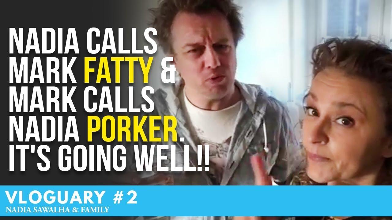 eec4b7816bc3 VLOGUARY 2 - NADIA Calls Mark FATTY   Mark Calls Nadia PORKER. SO ...