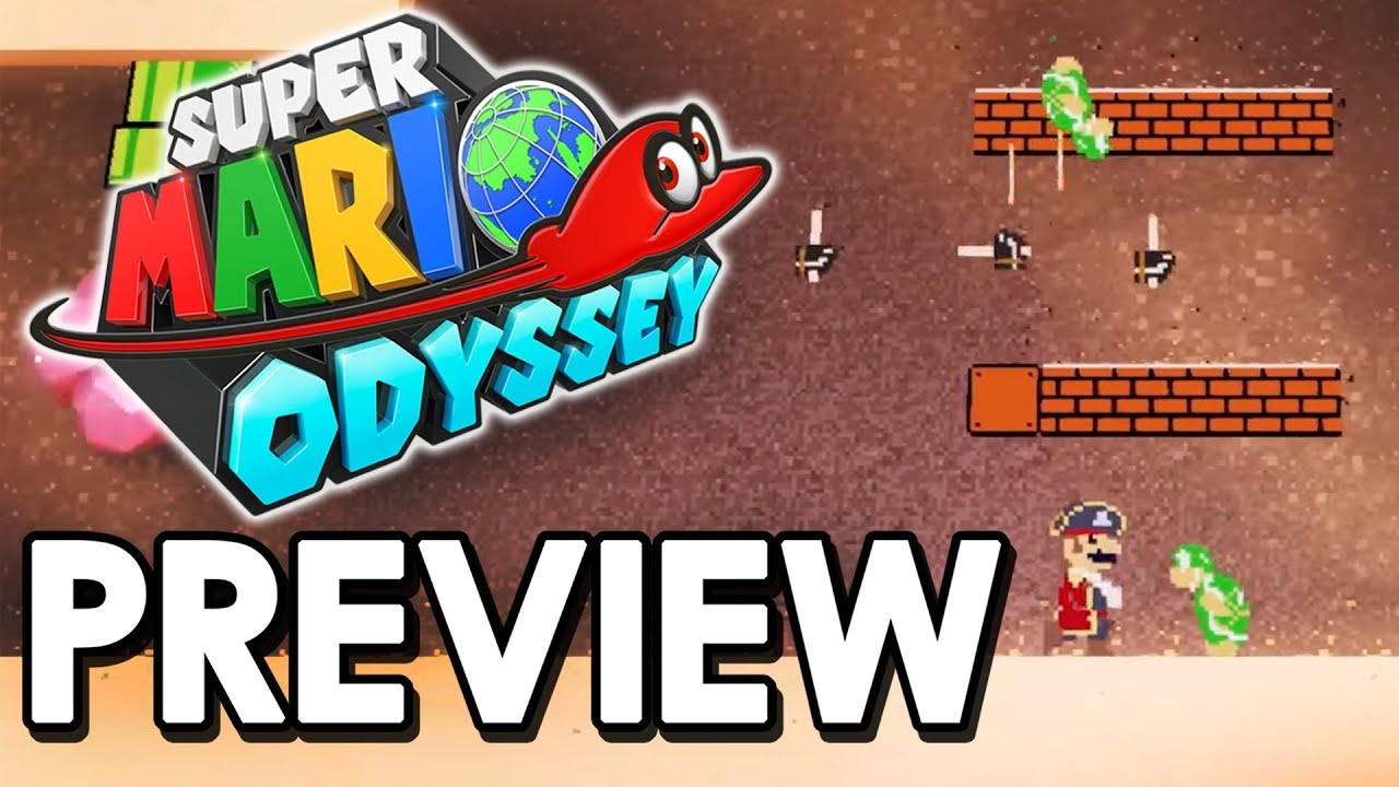 Super Mario Odyssey Old School 2d Section And Volleyball Exclusive Gameplay