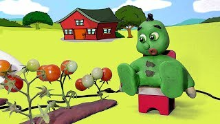 Green Baby PLANTING TOMATOES - Stop Motion Cartoons For Kids thumbnail