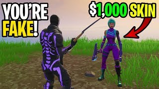 I met a RARE SKIN that was TERRIBLE at Fortnite! - (FAKE WONDER SKIN)