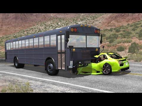 BUS VS CAR (Crash Testing) - BeamNG DRIVE