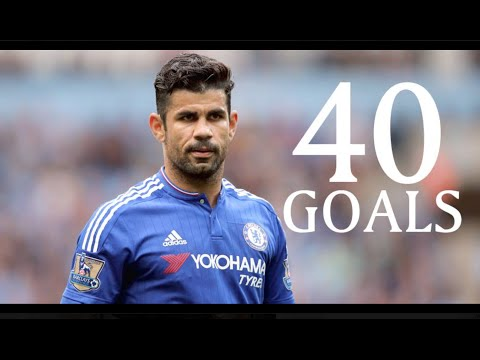 Dego Costa - First 40 Goals For Chelsea FC - HD