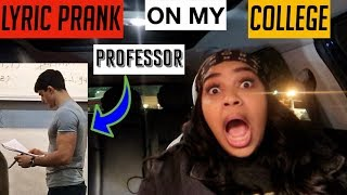 """I Want You"" Text prank on my college professor/CRUSH😍 Selena Gomez - Rare song lyric prank"