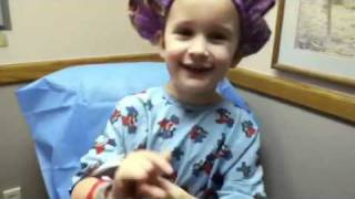 Abigail just before cochlear Implant surgery Thumbnail