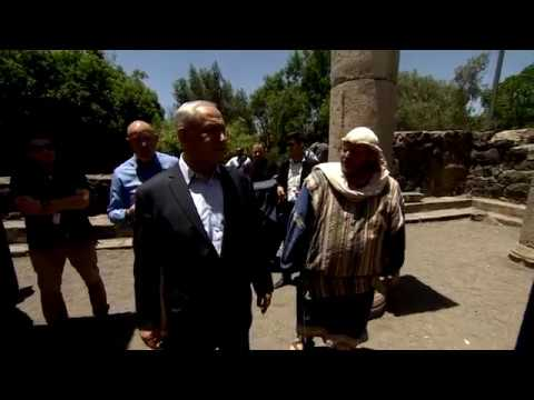 """רה""""מ נתניהו בסיור בגולן ובבית הכנסת העתיק של קצרין"""