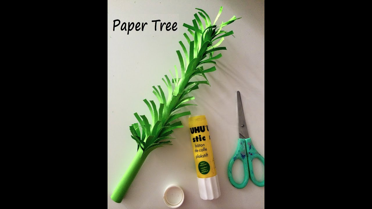 How To Make 3d Paper Tree Diy Tutorial Youtube