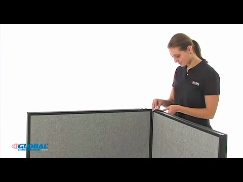 How to Assemble Global Industrial Office Partition Panels with Electric Raceway